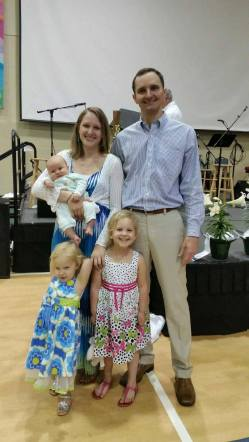 My son Josh's family and my new grandchild, Jude Zechariah